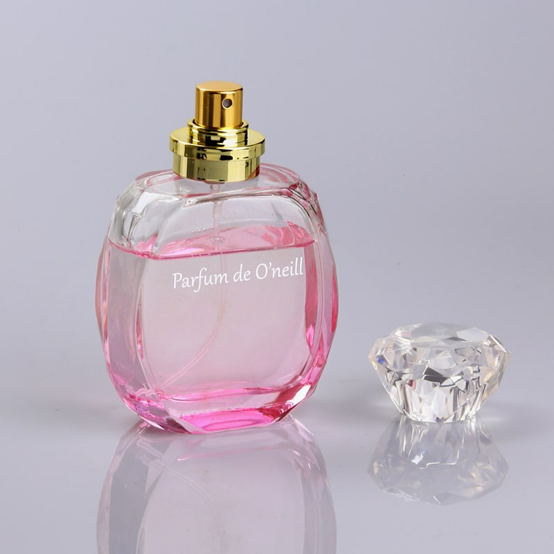 Pink-Color-Unique-Perfume-Empty-Glass-Bottle