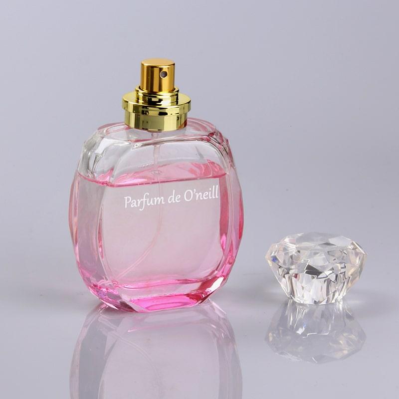 Pink-Color-Unique-Perfume-Empty-Glass-Bottle